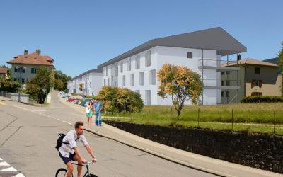 Construction de 36 appartements en plein centre de Vallorbe (en cours)